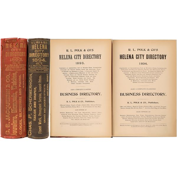 Early Helena, MT City Directories  [139565]