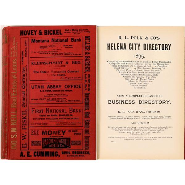 1895 Helena, MT City Directory  [139605]