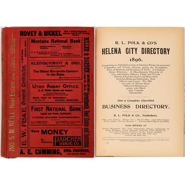 Polk Directory for Helena, MT. 1896  [139604]