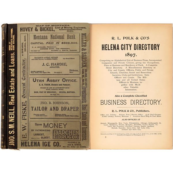 Helena MT. 1897 Polk Directory  [139602]