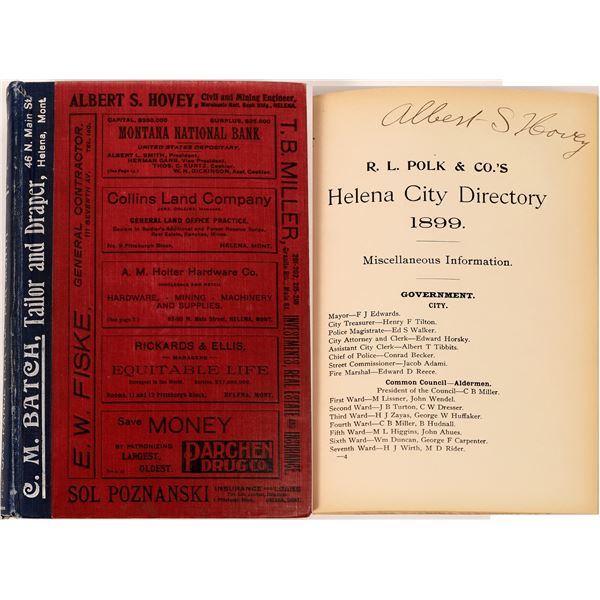 Helena, MT 1899 City Directory  [139603]