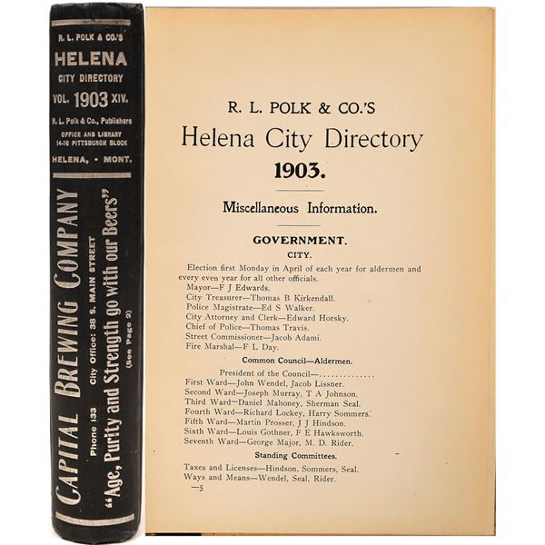 Polk 1903 Helena, MT. Directory  [139590]