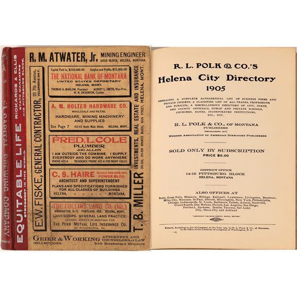Helena, Montana 1905 Polk Directory  [139600]