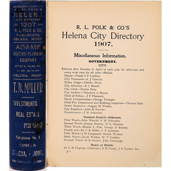 Polk 1907 Helena, MT. Directory  [139593]
