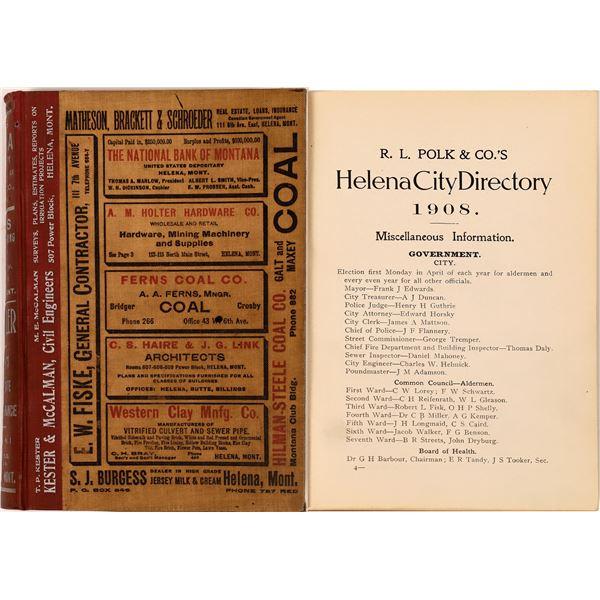 Helena, MT. Polk Directory for 1908  [139601]