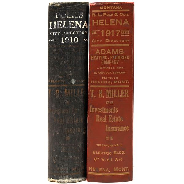 Two Helena MT. City Directories from 1910 & 1917 (2)  [139566]
