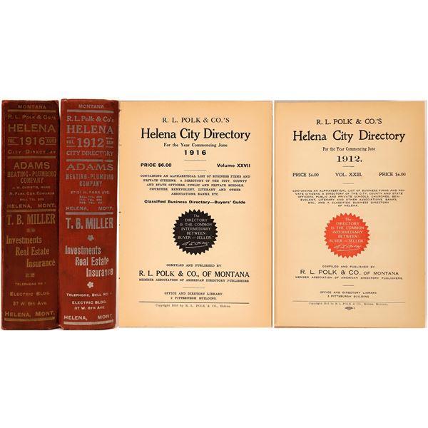 Helena City Directories 1912 & 1916 (2)  [139608]