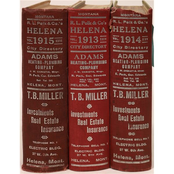 Polk 1913-1915 Helena, MT City Directories (3)  [139611]
