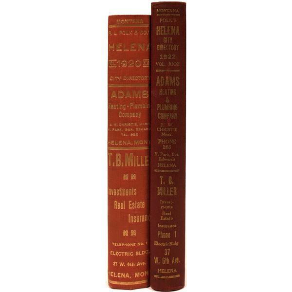 Polk Helena, MT City Directory Pair 1920 & 1922 (2)  [139567]