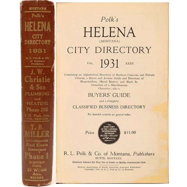 Four R.L. Polk Helena City Directories (4)  [139569]