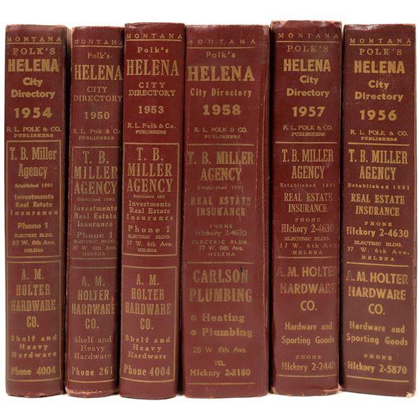 Helena MT. 1950's City Directories (6)  [139572]