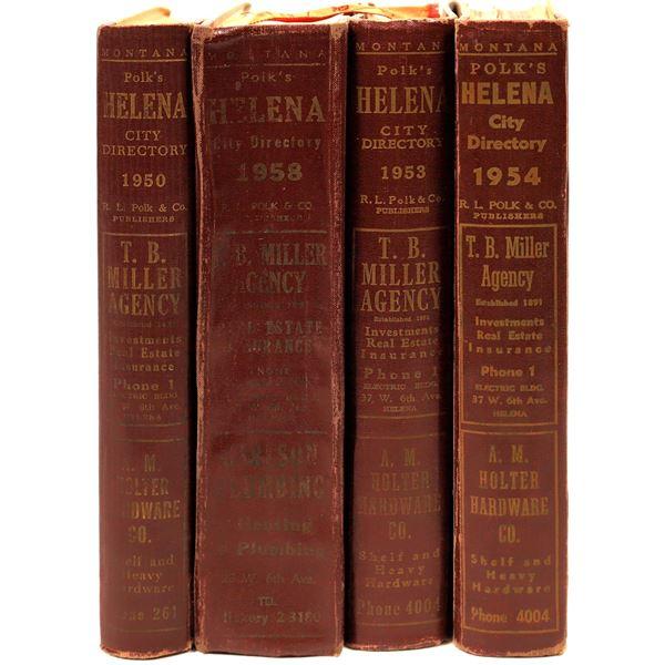 Polk Directories For Helena, MT. 1950's (4)  [139610]