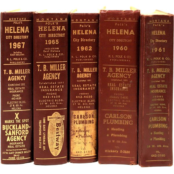 1960's Helena, MT City Directories (5)  [139609]