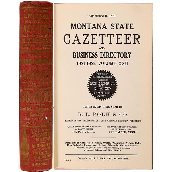 Montana 1921 Gazetteer  [139619]
