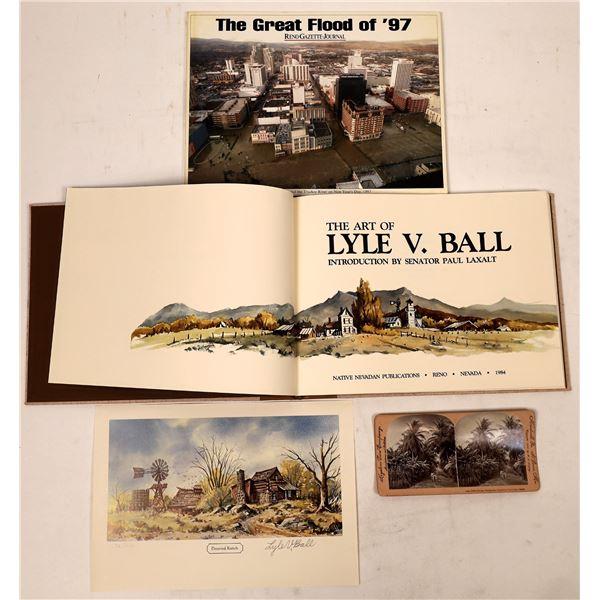 Signed Artist Book on Nevada/Nevada Flood of 1997 (2)  [129715]