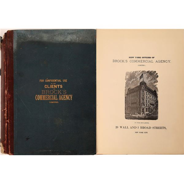 Brocks Commercial Agency Business Ratings Directory 1887  [139793]