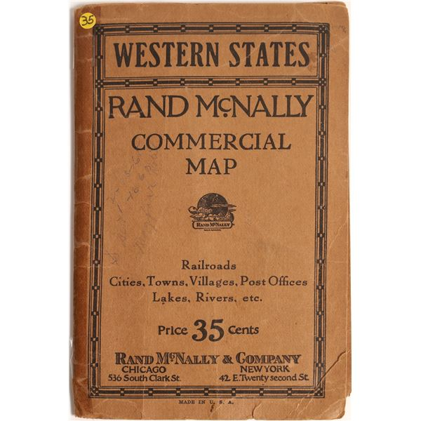 Rand McNally Commercial Map of the Western States  [139292]