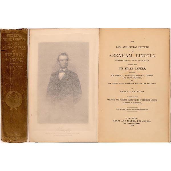 Abe Lincoln, Life, Service, Papers by Raymond, 1865  [141153]