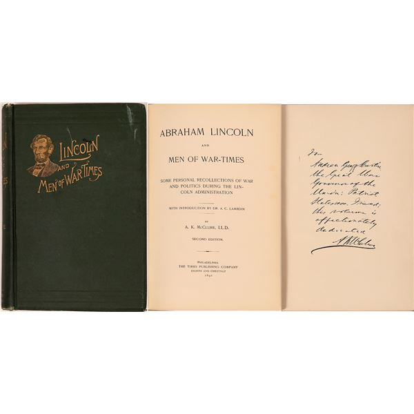 Abraham Lincoln Book by Alexander McClure  [139622]