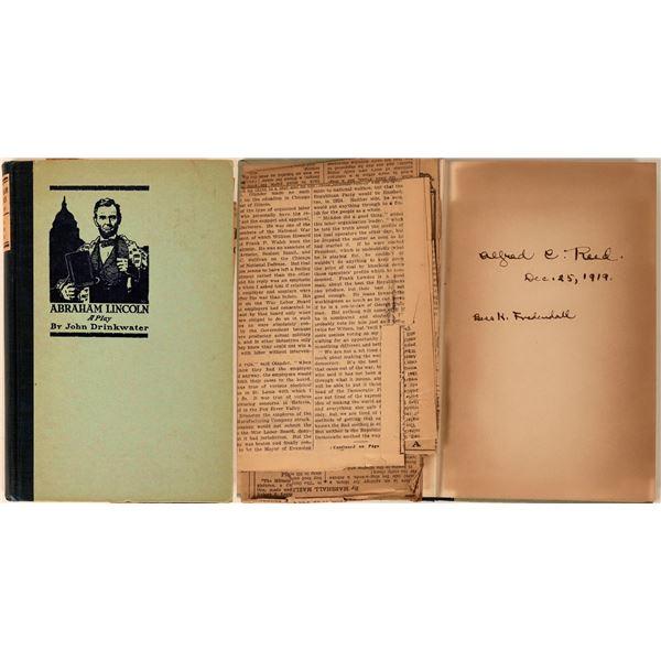 Abraham Lincoln: A Play - Rare 1919 Book  [138151]
