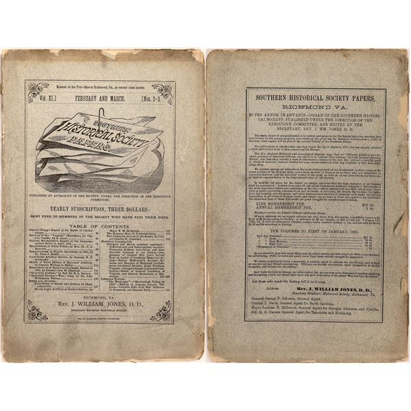 Southern Historical Society Publication  [140495]