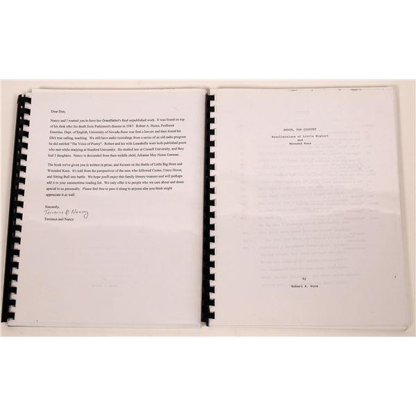 Unpublished Manuscripts of Professor Hume (2)  [139383]