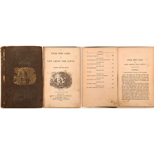 """""""Uncle Tom's Cabin or Life Among the Lowly"""" by Harriet Beecher Stowe  [138539]"""