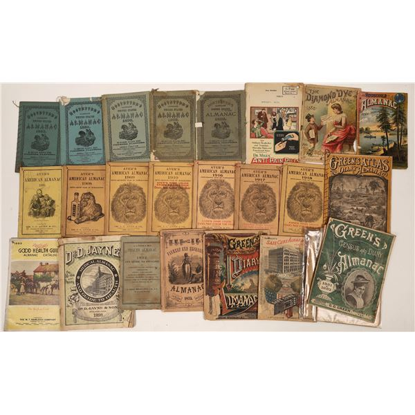 Almanac Collection 1800s-early 1900s  [138532]