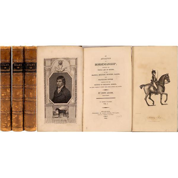 An Analysis of Horsemanship, Three Volumes, John Adams