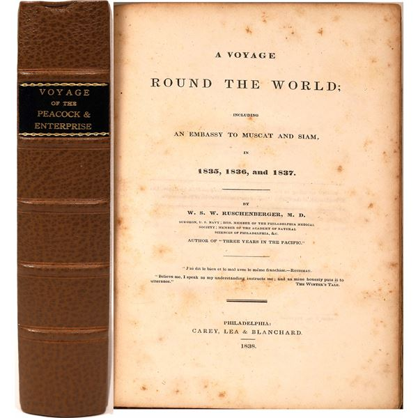 A Voyage Round the World in 1835, 1836 & 1837 by W.S.W. Ruschenberger  [138360]