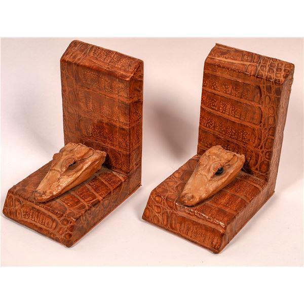 Crocodile Head Bookends  [138721]