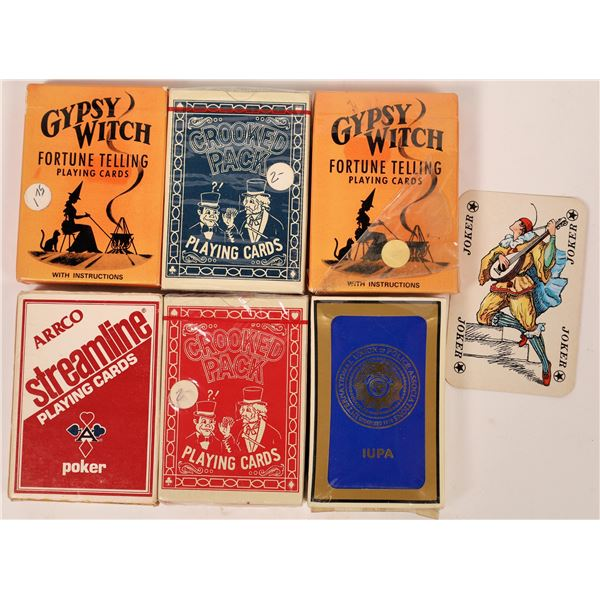 Fortune Telling Playing Cards/Crooked Pack Playing Cards/ Sealed Decks  [139242]