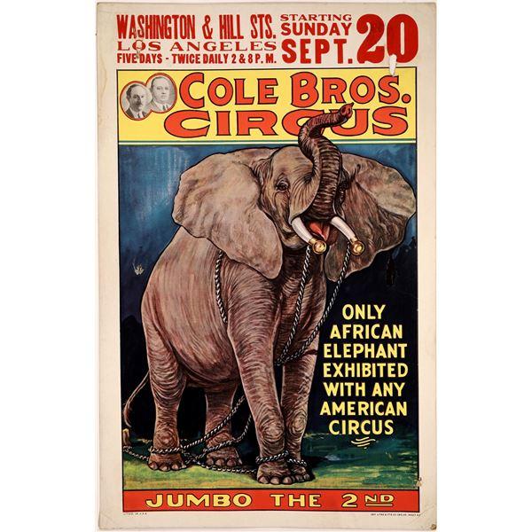 Cole Bros. Circus Jumbo Poster  [128090]