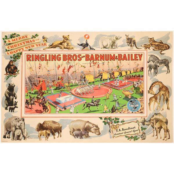 Barnum and Bailey & Ringling Bros. Circus Christmas Poster  [128099]