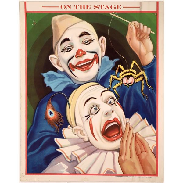 Circus Clown Poster From Donaldson Litho Company  [128095]