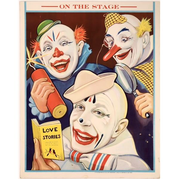 Another Circus Clown Poster From Donaldson Litho Company  [128096]