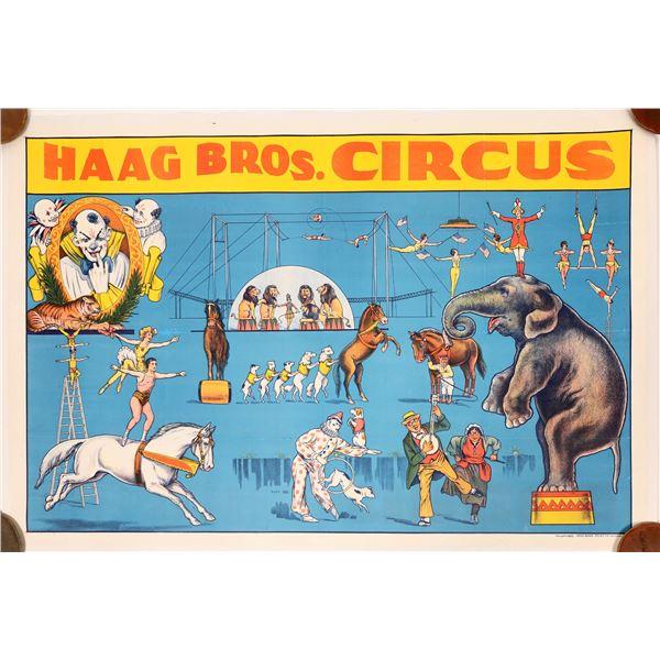 Haag Bros. Circus Advertising Poster  [139736]