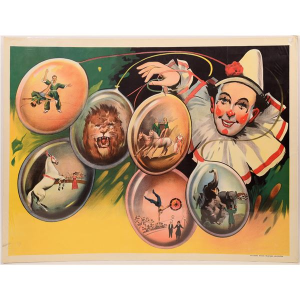 Circus Clown Show Posters c. 1930's  [139719]