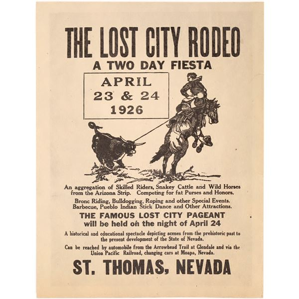 The Lost City Rodeo Broadside  [127013]