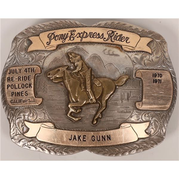 Pony Express Rider Buckle  [138073]