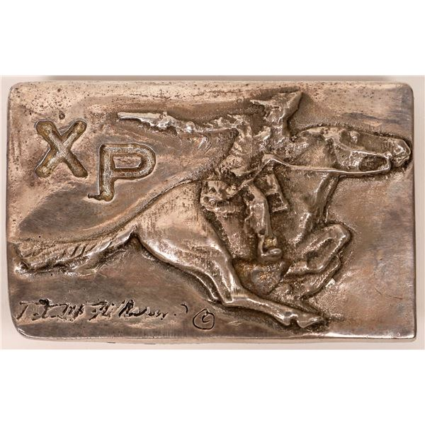 Pony Express Silver Buckle  [138081]