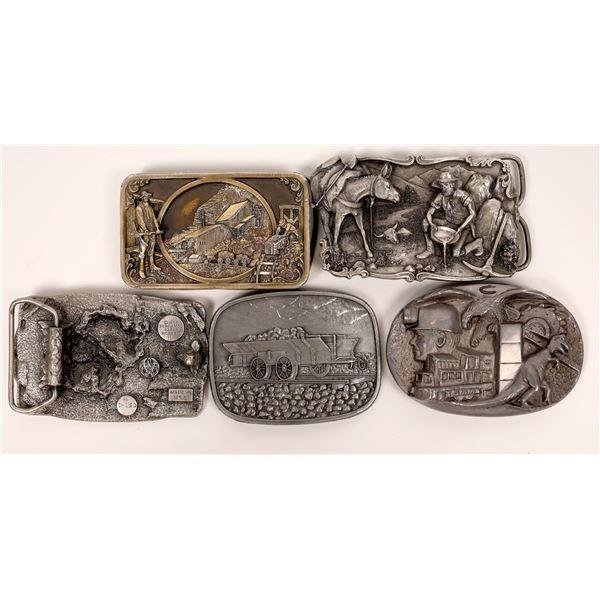 5 Mining Belt Buckles  [138031]