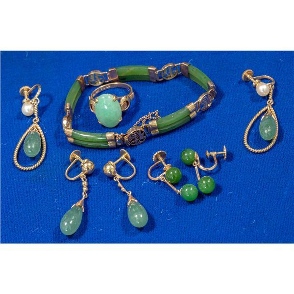 Jade Jewelry Set  [140345]