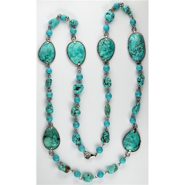 Turquoise Necklace, 36-inches long  [138337]
