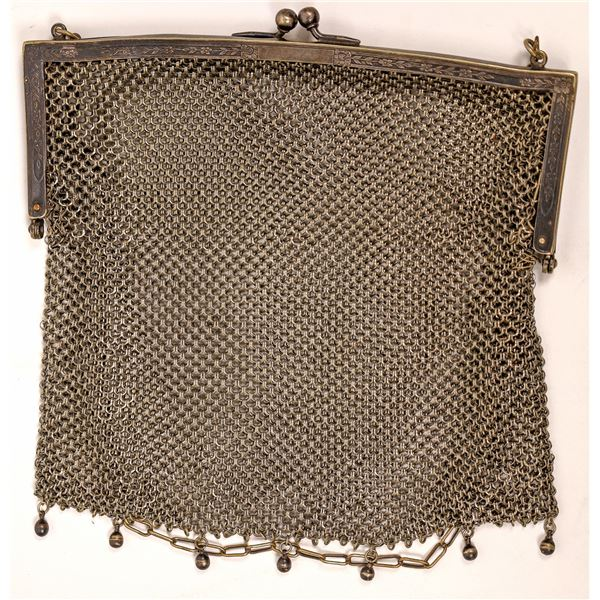 Vintage Silver Purse  [137896]