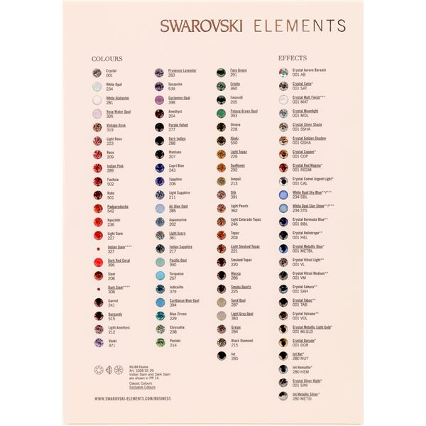 Swarovski-Elements Colours Effects Xilion Chaton Art. 1028  [140742]
