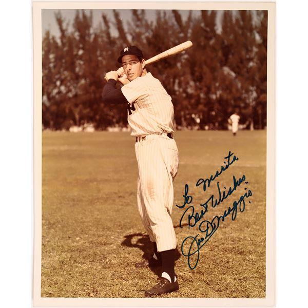 Signed Color Photo of Joe DiMaggio  [131745]
