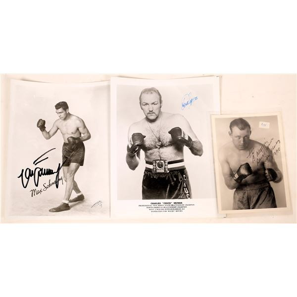 Heavyweight Boxers Signed Photos (3)  [128182]