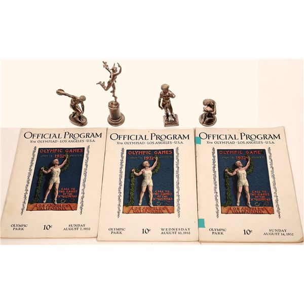 Xth Olympiad Los Angeles Daily Programs & Statuettes (7)  [139880]