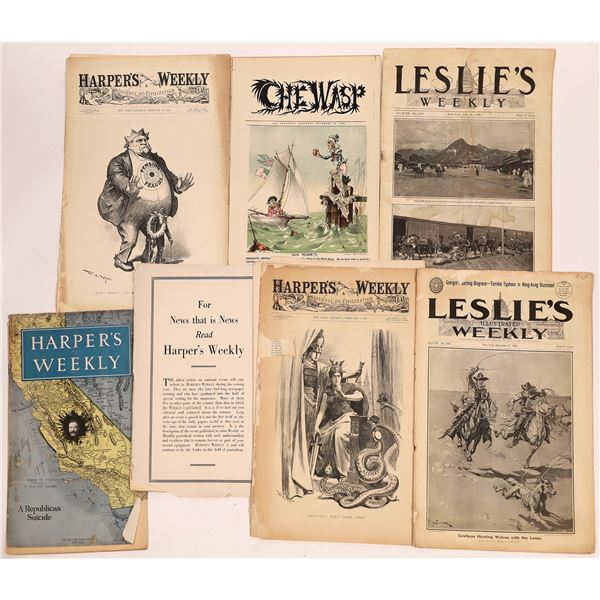 Leslies, Harpers, Wasp Magazines (9)  [139282]
